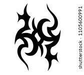 tribal tattoo vector designs... | Shutterstock .eps vector #1105600991