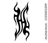 tribal tattoo vector designs... | Shutterstock .eps vector #1105601009