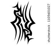 tribal pattern tattoo vector... | Shutterstock .eps vector #1105601027