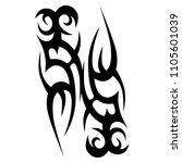tribal tattoo vector designs... | Shutterstock .eps vector #1105601039