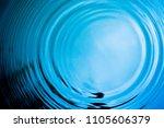 top view closeup blue water...   Shutterstock . vector #1105606379