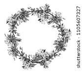 decorative wreath. hand drawn... | Shutterstock . vector #1105607327