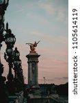 Small photo of The Alexander III Bridge across Seine river in Paris, France