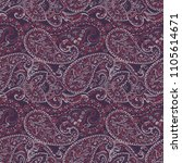 paisley pattern. seamless asian ... | Shutterstock .eps vector #1105614671
