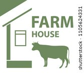 farm  dairy farm. flat design ... | Shutterstock .eps vector #1105624331