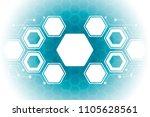 abstract hexagonal molecular...   Shutterstock .eps vector #1105628561