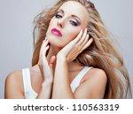 close up portrait of beautiful... | Shutterstock . vector #110563319