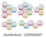 collection hexagon infographics.... | Shutterstock .eps vector #1105633607
