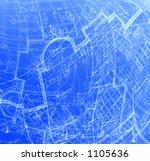 abstract blue plans | Shutterstock . vector #1105636