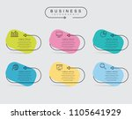 infographic thin line design...   Shutterstock .eps vector #1105641929