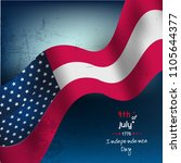 fourth of july. 4th of july... | Shutterstock .eps vector #1105644377