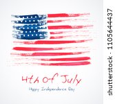 fourth of july. 4th of july... | Shutterstock .eps vector #1105644437