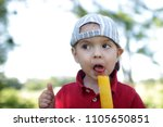 close up portrait of toddler... | Shutterstock . vector #1105650851
