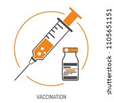 icon plastic medical syringe... | Shutterstock .eps vector #1105651151