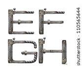 metal alphabet | Shutterstock . vector #110565644