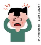 headaches from stress are one... | Shutterstock .eps vector #1105668254