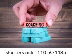 coaching business concept with... | Shutterstock . vector #1105671185