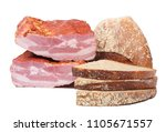 bacon and freshly baked... | Shutterstock . vector #1105671557