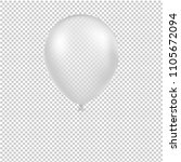 white balloon isolated with...   Shutterstock .eps vector #1105672094