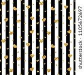 gold heart seamless pattern.... | Shutterstock .eps vector #1105672697