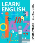 learn english. english language ... | Shutterstock .eps vector #1105673387