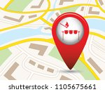 grilled chicken icon. vector... | Shutterstock .eps vector #1105675661