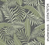 tropical background with palm... | Shutterstock .eps vector #1105678724