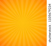 yellow sunburst background with ... | Shutterstock .eps vector #1105679234