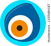vector evil eye pattern... | Shutterstock .eps vector #1105684187