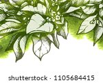 vector template with abstract... | Shutterstock .eps vector #1105684415