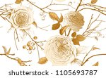 english garden roses  berries... | Shutterstock .eps vector #1105693787