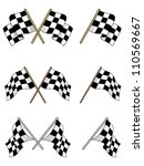 set of racing checkered flags... | Shutterstock .eps vector #110569667