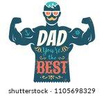 vector vintage greeting card...   Shutterstock .eps vector #1105698329