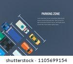 city car parking zone concept.... | Shutterstock . vector #1105699154