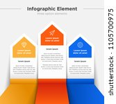 infographic element  three... | Shutterstock .eps vector #1105700975