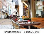 evening street cafe in... | Shutterstock . vector #110570141