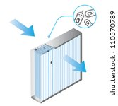 air filter and bacteria | Shutterstock .eps vector #110570789