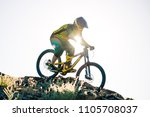 professional cyclist riding the ... | Shutterstock . vector #1105708037