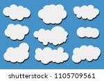 clouds on blue background. | Shutterstock .eps vector #1105709561