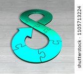 circular economy concept. green ...   Shutterstock . vector #1105713224