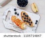 healthy breakfast with sweet... | Shutterstock . vector #1105714847