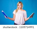 modern education  devices for... | Shutterstock . vector #1105714991