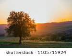 quiet and peaceful view of... | Shutterstock . vector #1105715924