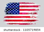 flag of america.watercolor usa... | Shutterstock .eps vector #1105719854