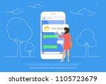 chat talk concept illustration... | Shutterstock .eps vector #1105723679
