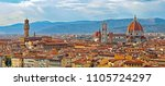 Stock photo florence italy panorama with arno river old palace and the big dome of the cathedral called duomo 1105724297