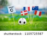 """table with title """"group c""""...   Shutterstock . vector #1105725587"""