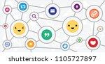 vector illustration of emoji...   Shutterstock .eps vector #1105727897