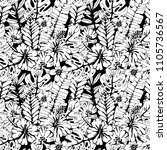 seamless pattern with tropical... | Shutterstock .eps vector #1105736567