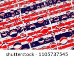 flags  of thailand  behind a... | Shutterstock . vector #1105737545
